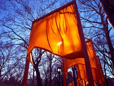 Central Park The Gates exhibit