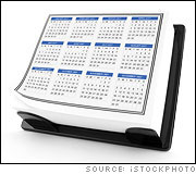 Yearly Desk Calendar