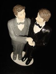 Wedding toppers, two men
