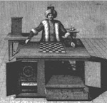 drawing of chess playing machine