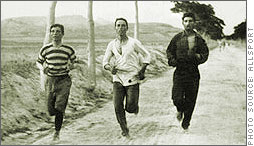 Marathon runners train for the first modern Olympic games in 1896