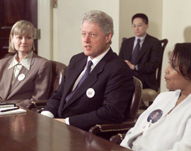 Dees-Thomases and Pres. Clinton