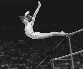 Memorable Olympic Moments: Nadia Comaneci | FactMonster.com