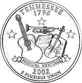 State Quarter of Tennessee (reverse)