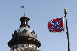 Confederate Flag outside South Carolina statehouse