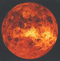 the planet Venus