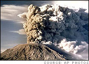 Mount Saint Helens Erupts