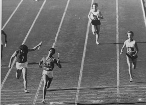 Wilma Rudolph, first U.S. female to win three gold medals in track and field